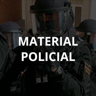 Banner de material policial