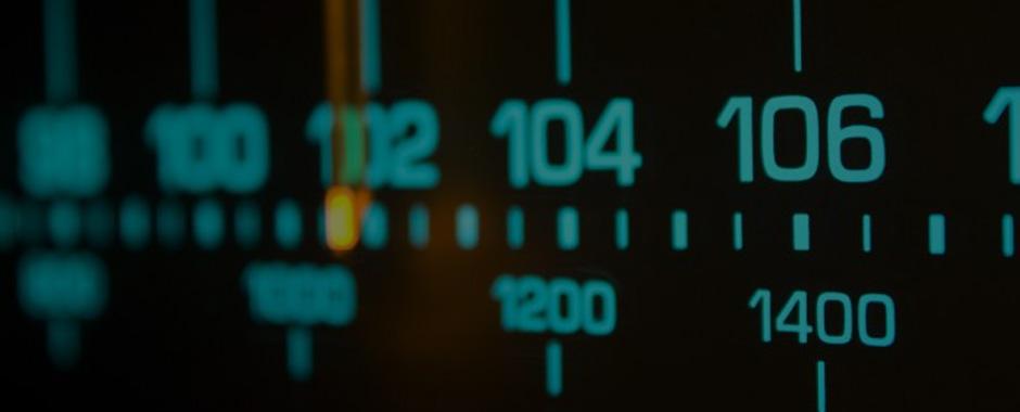 Imagen del dial de una emisora de radio